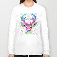 deer Long Sleeve T-shirts featuring deer by mark ashkenazi