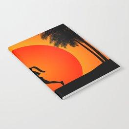Running woman in the beach Notebook