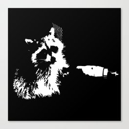 Tough Raccoon Canvas Print