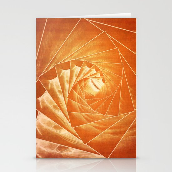 The Burning Eye Sees Spiral Stationery Cards
