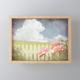 Spring Welcome Rose Framed Mini Art Print
