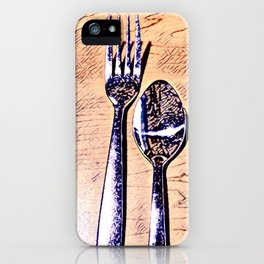 Forks and knives iPhone Case