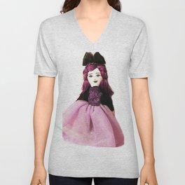 Pretty in Purple Doll Unisex V-Neck