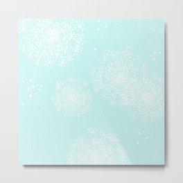 DANDY SNOWFLAKE AQUA Metal Print