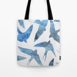 Watercolor birds - sapphire ink Tote Bag