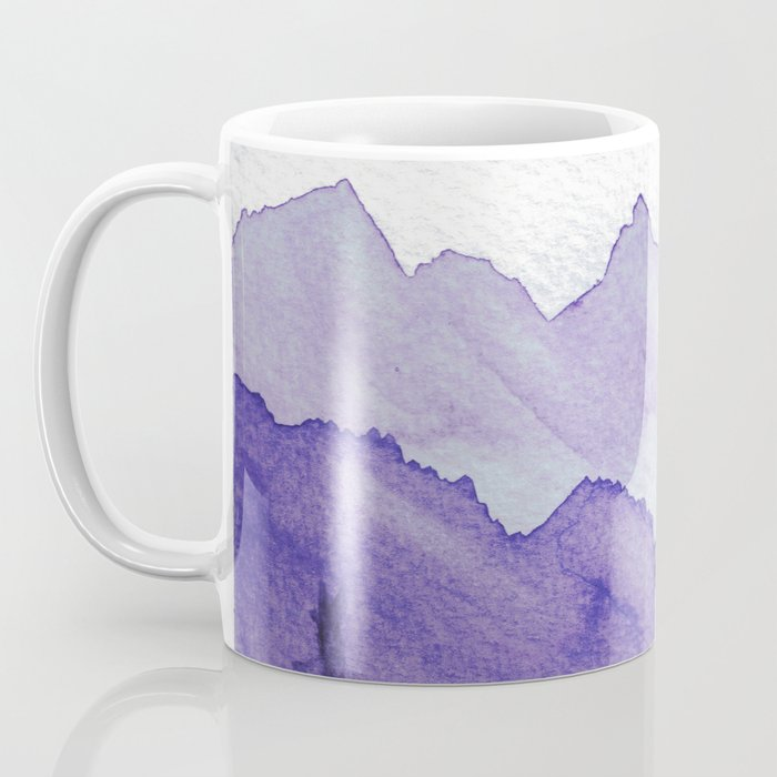 Tonal Mountain Study 2 Purple Coffee Mug