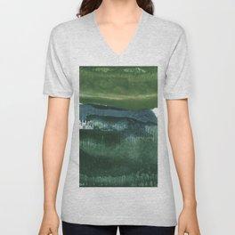 Encaustic Abstract No.27O by Kathy Morton Stanion Unisex V-Neck