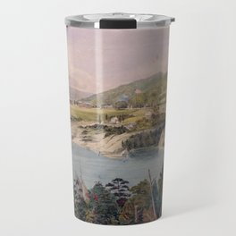 Panorama of West Point from Constitution Island by John Rubens Smith (c 1820) Travel Mug