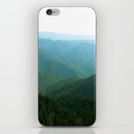 Summer Hues Smoky Mountains Painting National Park Art Mountain Nature Forest Landscape iPhone Skin