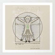 Virtruvian Rick Art Print
