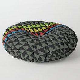 Four Tone Triangles Floor Pillow