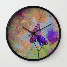 Butterfly by muddy waters Wall Clock
