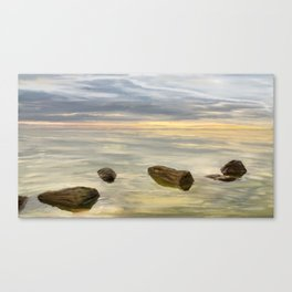 Sea sunset during calm weather Canvas Print