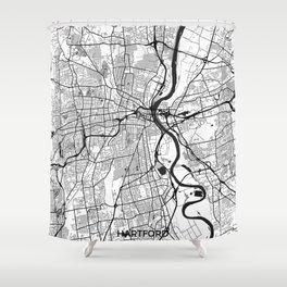 Hartford Map Gray Shower Curtain