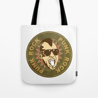 punk Tote Bags featuring punk by mark ashkenazi