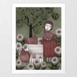 Grandmother's Chicken House  Art Print