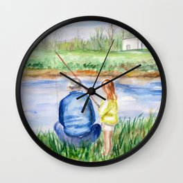Fishing Memories Wall Clock