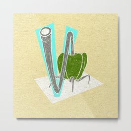 Vegetable Vacuum Cleaner V Metal Print