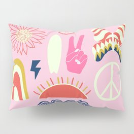 peace + harmony + surf Pillow Sham