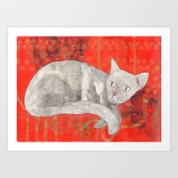 Second cat Art Print