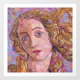 Variations On Botticelli's Venus – No. 4 (Iridescence) Art Print