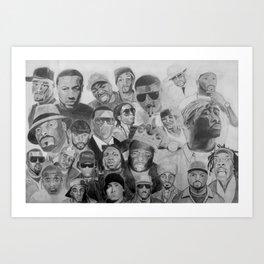 Rap's Finest Collage Art Print