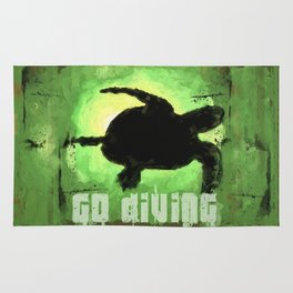 Go Diving! - Turtle Rug