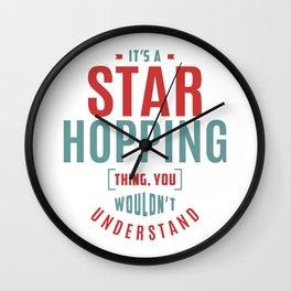 Star Hopping Thing Wall Clock