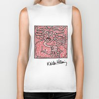 keith haring Biker Tanks featuring Keith Haring by cvrcak