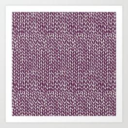 Hand Knit Plum Art Print