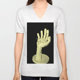 smoking girl Unisex V-Neck