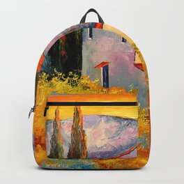 Settlement in the mountains Backpack