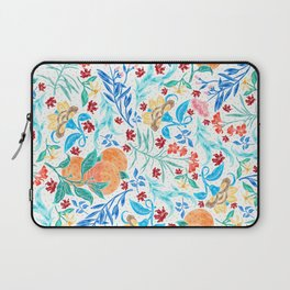 Good Fortune Asian Floral Pattern With Orange Blossoms Laptop Sleeve