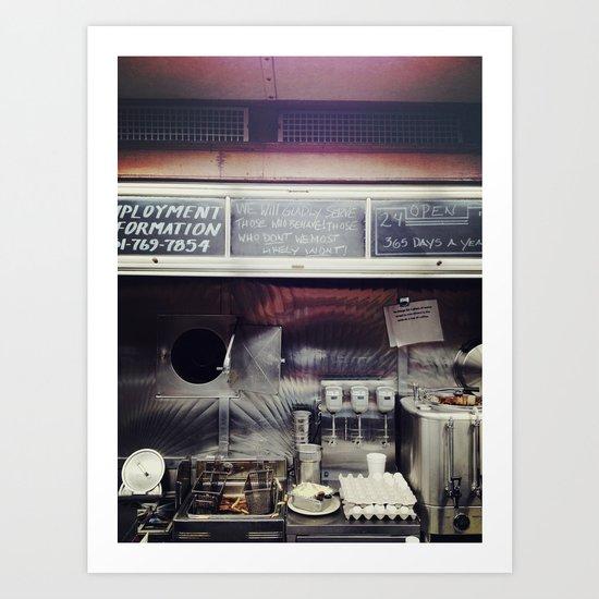 Diner Living. Art Print
