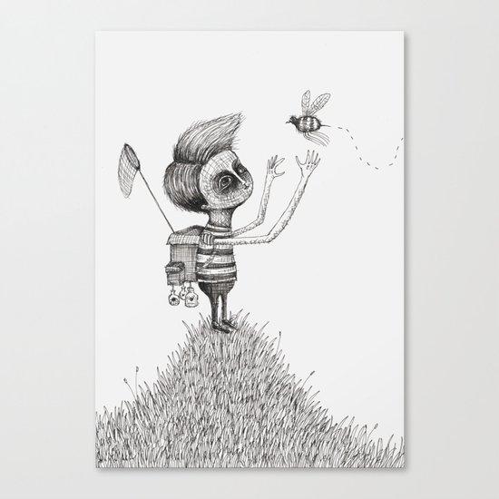 'The Bug Collector' Canvas Print