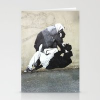 banksy Stationery Cards featuring BANKSY  by Art Ground