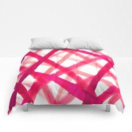 Criss Cross Pink Comforters