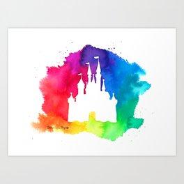 Rainbow castle Art Print