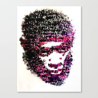 tyler the creator Canvas Prints featuring OBSCENE (Tyler the Creator) by Monica Diaz