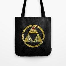 Gold Triforce Circle Tote Bag