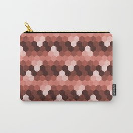 Shade of Hexagon (Burgundy) Carry-All Pouch