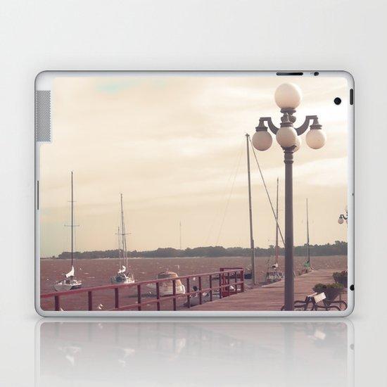 Harbor  (Vintage and Retro Photography)  Laptop & iPad Skin