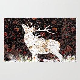 Moonlight Elk Reverse White Rug