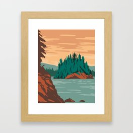 Isle Royale National Park and of islands in Lake Superior Michigan United States WPA Poster Art Color Framed Art Print