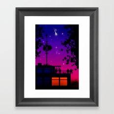 STARRY NIGHT. Framed Art Print