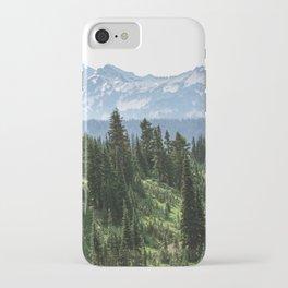 Mount Rainier Adventure - Pacific Northwest Mountain Forest Wanderlust iPhone Case