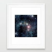outer space Framed Art Prints featuring Outer Space by apgme