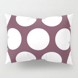 Large Polka Dots: Burgundy Pillow Sham