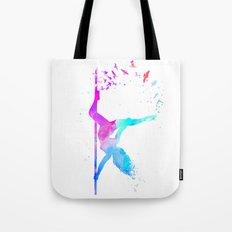 watercolor pole dance  Tote Bag
