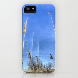 Lake Grass Abstract iPhone Case